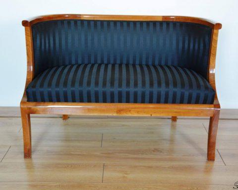 A28 Biedermeier Bergere Sofa aus massiven Kirschholz