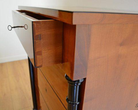 B36 Biedermeier Kommode mit 5 Schubladen