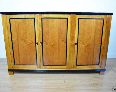 B4 Klassischer Biedermeier Kommode mit 3 Türen