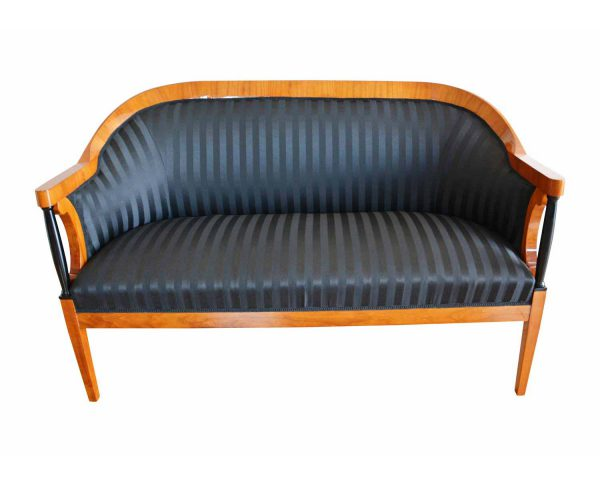 Biedermeier Sofa mit schwarzen Säulen