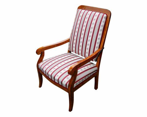 Biedermeier Sessel mit verstellbarer Rückenlehne