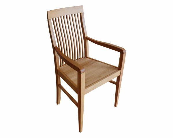 Klassicher Sessel mit Sitz aus massiven Eichenholz