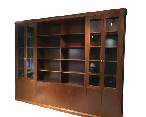 R5 Wunderschöne Bibliothek aus Nussholz 1