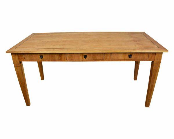 Biedermeier Schreibtisch mit 3 Schubladen 2